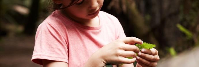 Children activities 4 (girl with leaf)